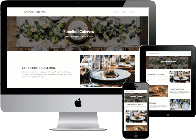 Function Caterers, event catering website design