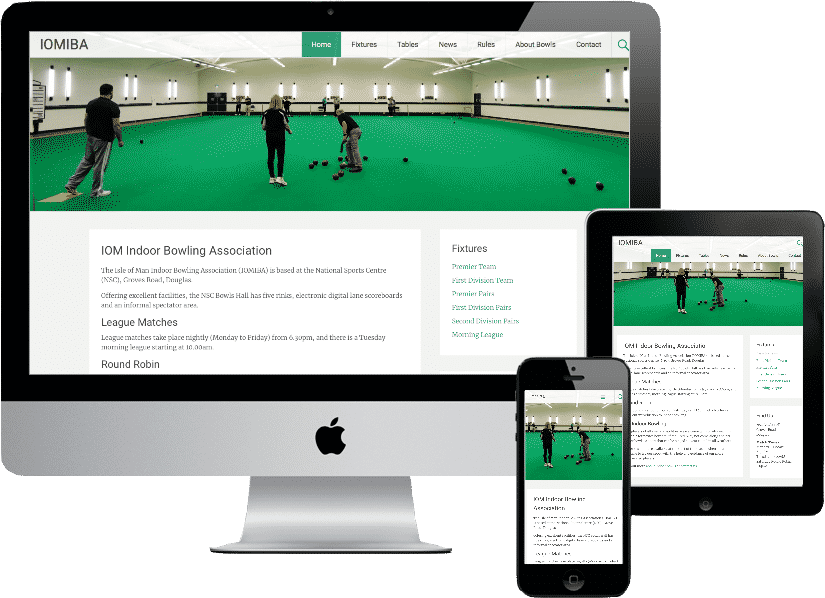 Isle of Man Indoor Bowling Association website design