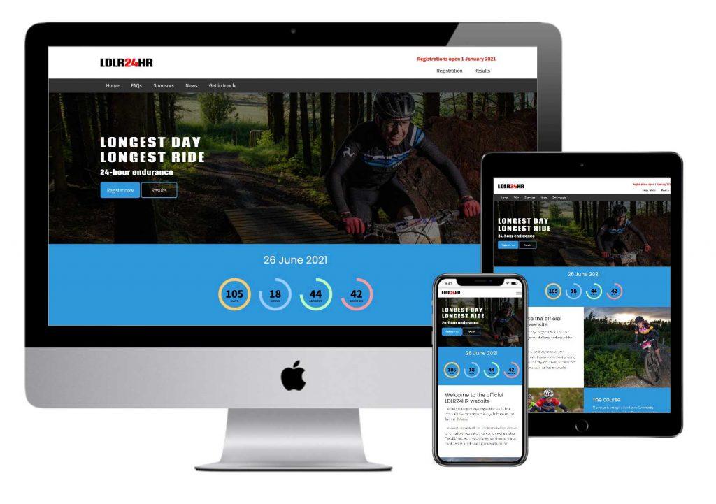 Longest Day, Longest Ride website mockup