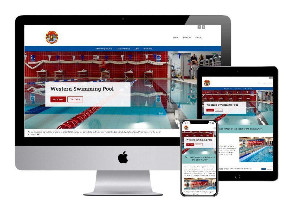 Western Swimming Pool website mockup
